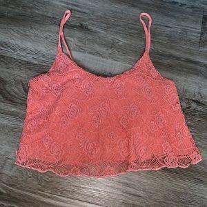 Charlotte Russe Orange Crop Top